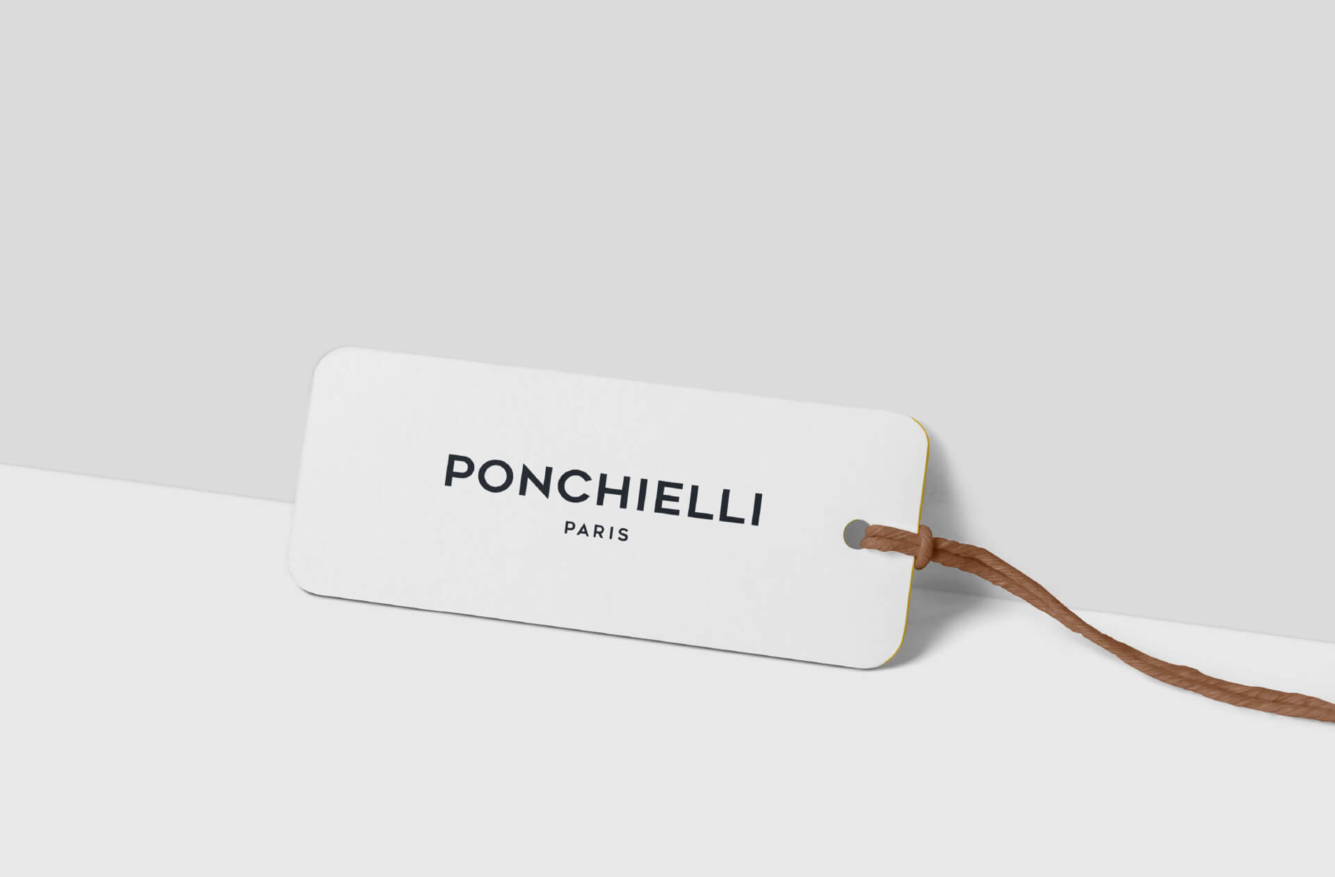Mock-up du logo de Ponchielli